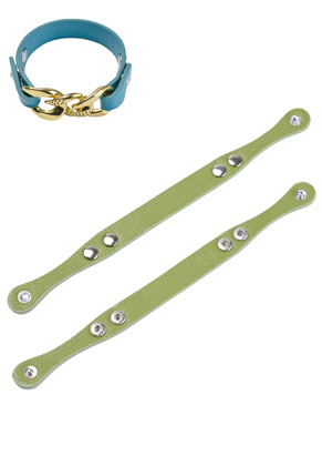 www.snowfall-beads.nl - Imitatie leren armband