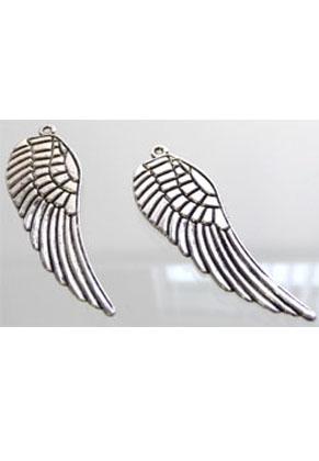 www.snowfall-beads.de - Metall Anhänger Flügel 50x16mm