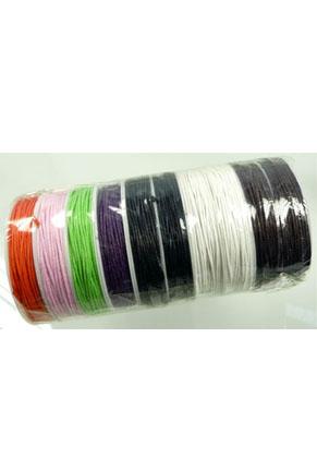 www.snowfall-beads.com - Wax cord 1mm roll ± 10 meter