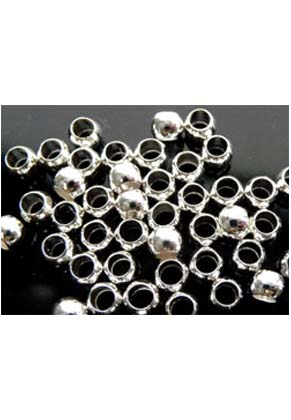 www.snowfall-beads.com - Metal crimp beads 4mm (± 205 pcs.)