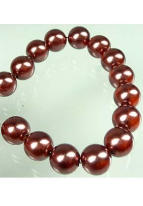www.snowfall-beads.com - Glass pearls transparant 14mm (± 60 pcs.)