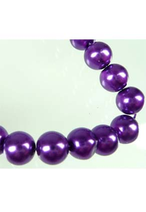 www.snowfall-beads.com - Glass pearls transparant 8mm (± 110 pcs.)