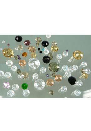 www.snowfall-beads.nl - Mix glaskralen kristal facet geslepen met mooie glans ± 4-18mm (± 55 st.)