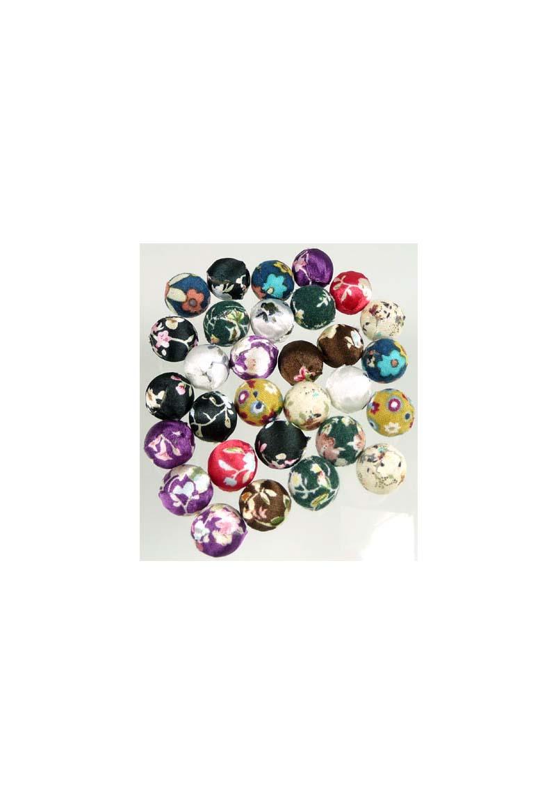 how to make round fabric beads