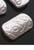 www.snowfall-beads.com - Synthetic beads metal look mat rectangle ± 25x15x6mm