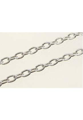 www.snowfall-beads.fr - Chaîne de métal ± 7x4mm (± 10 mètre par rouleau)