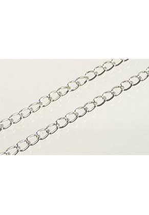 www.snowfall-beads.fr - Chaîne de métal ± 6x4mm (± 10 mètre par rouleau)