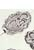www.snowfall-beads.com - Metal beads flat oval decorated with flower ± 17x12x7mm