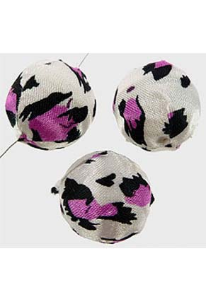 www.snowfall-beads.com - Synthetic beads round, decorated with fabric ± 20mm