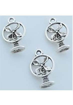 www.snowfall-beads.com - Metal pendants/charms electric fan ± 18x11mm (± 50 pcs.)