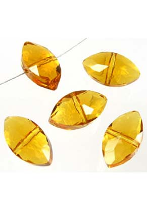 www.snowfall-beads.com - Glass beads crystal faceted flat oval ± 16x9x7mm