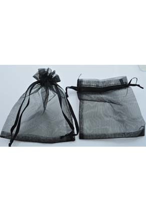 www.snowfall-beads.com - Textile gift bags Organza ± 120x90mm