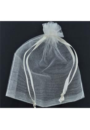 www.snowfall-beads.com - Textile gift bags Organza ± 120x90mm