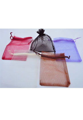 www.snowfall-beads.com - Mix textile gift bags Organza ± 120x90mm