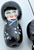 www.snowfall-beads.com - Porcelain beads Chinese doll ± 30x13mm