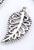 www.snowfall-beads.es - Pendientes de metal, pluma, decorado ± 19x10mm (± 80 pzs.)