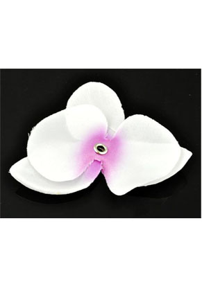 www.snowfall-beads.com - Textile orchid ± 80x65mm