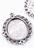 www.snowfall-beads.fr - Pendentifs en métal ovale ± 40x29mm avec cadre pour ± 25x18mm brique de collage/photo
