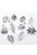 www.snowfall-beads.nl - Mix metalen kralen en hangers/bedels blaadjes ± 10-33mm (4 zakjes van 10 verschillende, totaal ± 40 st.)