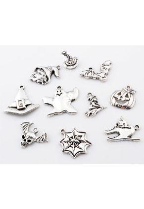 www.snowfall-beads.com - Mix metal beads and pendants/charms Halloween ± 15x24mm