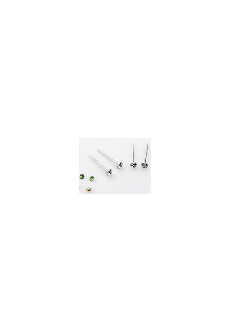 clous d 39 oreille avec cadre pour 2mm imitation de diamant. Black Bedroom Furniture Sets. Home Design Ideas