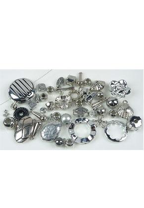 www.snowfall-beads.nl - Mix metal look kralen en hangers/bedels ± 5-40mm