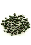 www.snowfall-beads.com - Mix synthetic beads with eye pin and cap ± 8-16mm (± 80 pcs.) - D10497