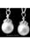 www.snowfall-beads.fr - Pendentif/breloque de nacre (avec 925 argent, Rhodium plated) avec strass ± 24x12mm (oeil ± 4mm)