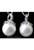 www.snowfall-beads.nl - Parelmoer hanger/bedel (925 zilver, Rhodium plated) met strass ± 23x14mm (oogje ± 4mm)