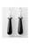 www.snowfall-beads.es - Pendientes de piedra natural 'Black Agate', con ojo de 925 plata, con strass ± 41x9mm (ojo ± 4mm)