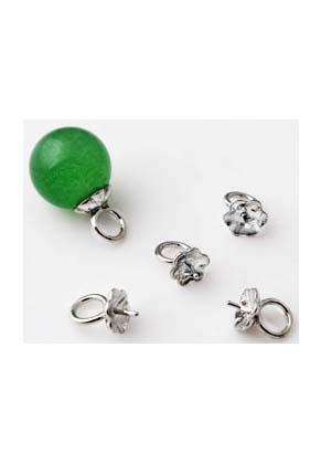 www.snowfall-beads.nl - Metalen hangers/bedels met pin (± 0,7mm dik) voor plaksteen/kraal met halfgeboord gat ± 10x6mm (oogje ± 4mm)