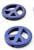www.snowfall-beads.nl - Natuursteen kralen Turquoise Howlite 'vrede/peace' teken ± 25mm (gat ± 1,5mm)