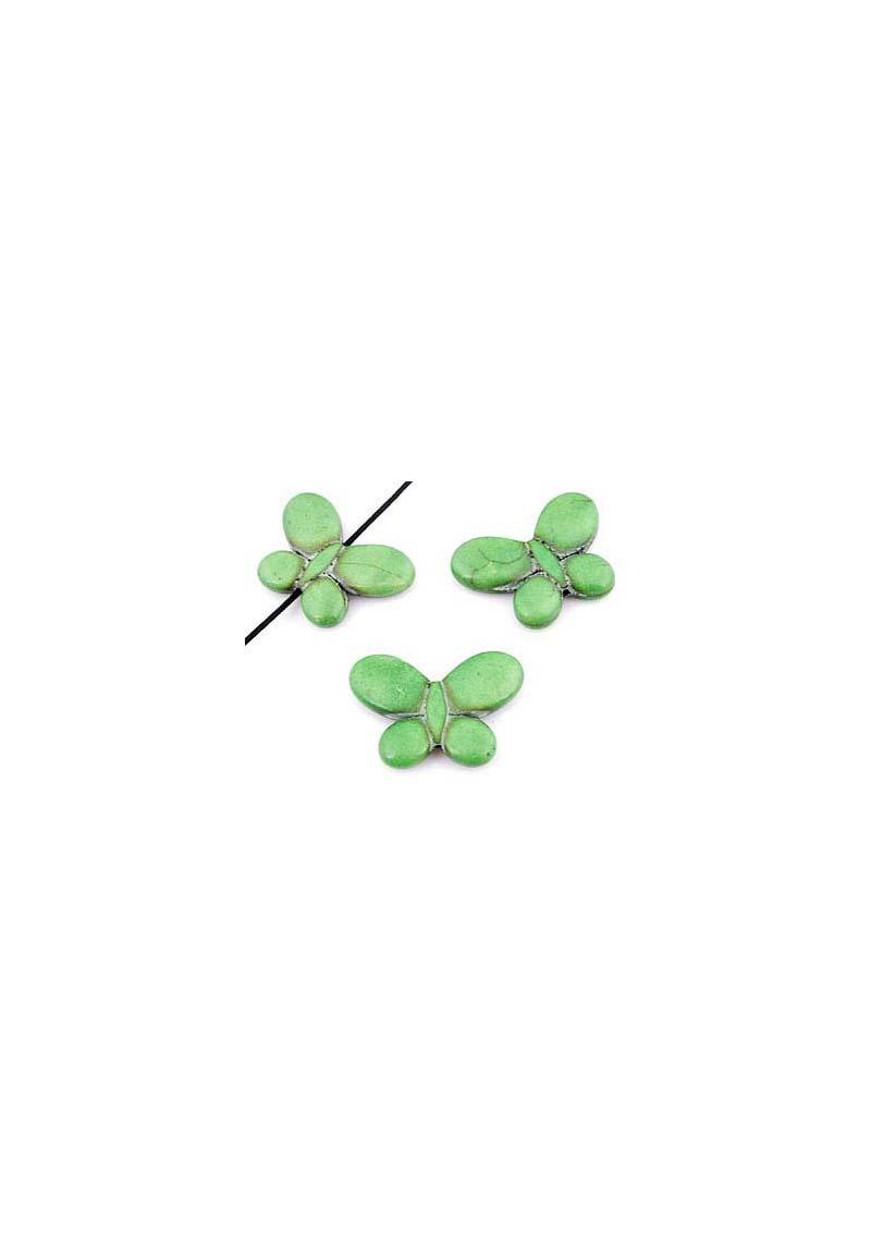perles de pierre naturelle turquoise howlite papillon 35x25mm trou 1mm. Black Bedroom Furniture Sets. Home Design Ideas