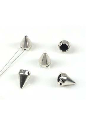 www.snowfall-beads.nl - Metalen verdelers 'studs' ± 15x10mm met 2 gaatjes (± 2mm)