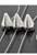 www.snowfall-beads.es - Separadores de material sintético 'studs', metal look triple ± 15x28mm, con 3 huecos (hueco ± 1,5mm)