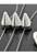 www.snowfall-beads.nl - Kunststof verdelers 'studs', metal look driedubbel ± 15x28mm met 3 gaatjes (gat ± 1,5mm)