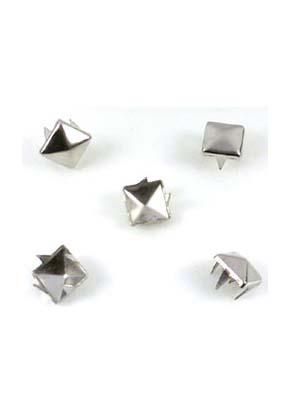 www.snowfall-beads.fr - Studs de métal, carrés ± 7x7mm (± 360 pcs.)