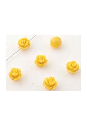 www.snowfall-beads.nl - Natuursteen (80%) en kunststof (20%) kralen roosje ± 10x9mm (gat ± 1mm)