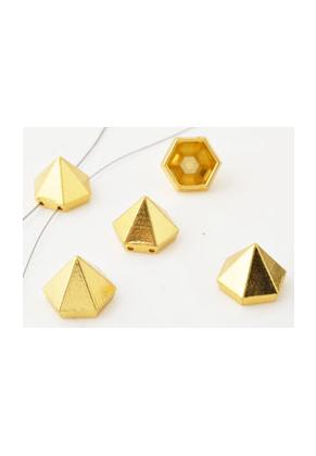 www.snowfall-beads.nl - Metalen verdelers piramide ± 12,5x11mm met 2 gaatjes (± 1mm)