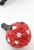 www.snowfall-beads.nl - Kunststof anti-dust plug voor mobiele telefoon met fimoklei fruit aardbei met strass ± 25x14mm