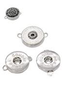 www.snowfall-beads.fr - DoubleBeads EasyButton pendentifs/entre-deux de métal, décorés ± 25x19mm (jeux ± 2,5mm) (appropriés pour DoubleBeads EasyButton boutons-pression) - D13204