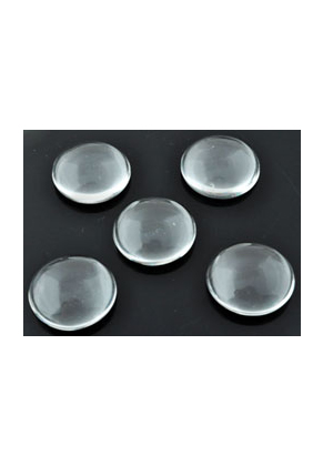 www.snowfall-beads.com - Glass flat backs/cabochon round ± 18mm, ± 5mm thick