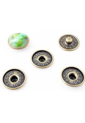 www.snowfall-beads.com - DoubleBeads EasyButton press studs size L for 18mm flat back