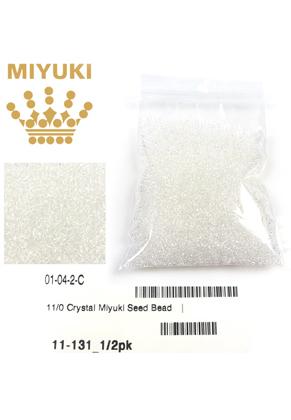 www.snowfall-beads.com - Miyuki glass seed beads 11/0- Transparant Crystal 131 (± 5500 pcs.)