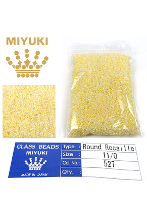 www.snowfall-beads.com - Miyuki glass seed beads 11/0- Ceylon Butter Cream 527 (± 5500 pcs.)