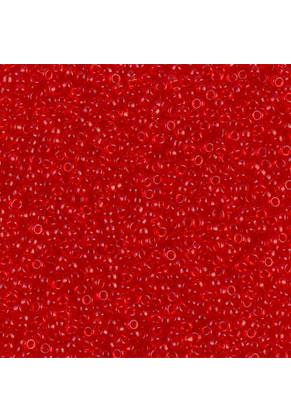 www.snowfall-beads.com - Miyuki glass seed beads 15/0- Transparant Red Orange 140 (± 12500 pcs.)