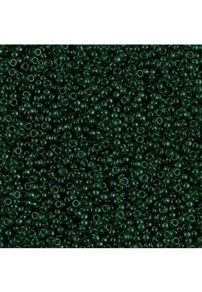 www.snowfall-beads.com - Miyuki glass seed beads 15/0- Transparant Dark Emerald 156 (± 12500 pcs.)