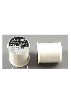 www.snowfall-beads.com - Miyuki Beading Thread/ nylon thread MNT-01, 330dtex 0,2mm (± 50m per roll)