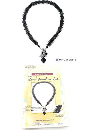 www.snowfall-beads.com - Miyuki jewelry kit necklace 'Russian Stitch' no.BFK-184 (including instructions)
