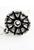 www.snowfall-beads.nl - Metalen oorstekers bewerkt met oogje ± 14x14,5mm (oogje ± 1mm)